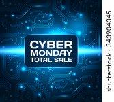sale technology banner for... | Shutterstock .eps vector #343904345