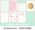 printable set of filler cards... | Shutterstock .eps vector #343915886