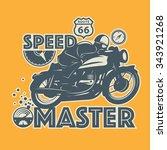 vintage motorcycle sport label  ...   Shutterstock .eps vector #343921268