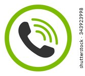 phone call vector icon. style... | Shutterstock .eps vector #343923998