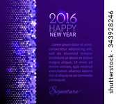 new year 2016 background.... | Shutterstock .eps vector #343928246