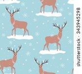 vector seamless winter snowy...   Shutterstock .eps vector #343945298