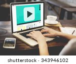 Small photo of Play Button Audio Video Media Technology Concept