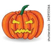 pumpkin vector illustration... | Shutterstock .eps vector #343955366