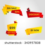 vector stickers  price tag ... | Shutterstock .eps vector #343957838