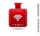 wifi red vector icon design   Shutterstock .eps vector #343960385
