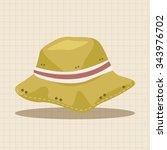 fishing hat theme elements | Shutterstock .eps vector #343976702