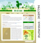 plants site template   home... | Shutterstock .eps vector #34397794