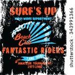 vector surf poster | Shutterstock .eps vector #343991366