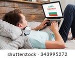 man learning bulgarian language ... | Shutterstock . vector #343995272
