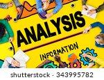 analysis analytics bar graph... | Shutterstock . vector #343995782