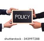 two man holding mini blackboard ... | Shutterstock . vector #343997288