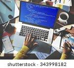 php programming html coding... | Shutterstock . vector #343998182