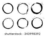 frames black color. vector... | Shutterstock .eps vector #343998392