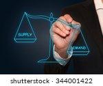 businessman drawing demand... | Shutterstock . vector #344001422