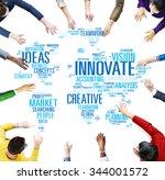 innovation inspiration...   Shutterstock . vector #344001572