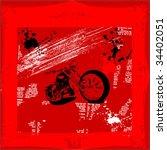 motorcycle grunge vector...   Shutterstock .eps vector #34402051