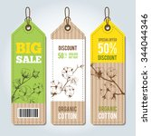 vector tags for clothing... | Shutterstock .eps vector #344044346