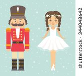 nutcracker and girl ballerina