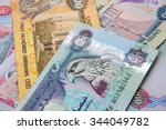 uae currency   500 dirhams... | Shutterstock . vector #344049782