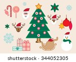 christmas icon set  vector set | Shutterstock .eps vector #344052305
