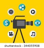 video marketing design  vector...   Shutterstock .eps vector #344055908