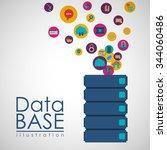 data base design  vector... | Shutterstock .eps vector #344060486
