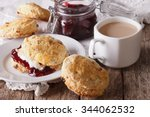 Scones With Jam And Tea With...