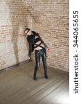fashion women model posing in... | Shutterstock . vector #344065655