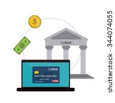 payment concept with money... | Shutterstock .eps vector #344074055