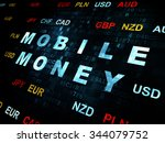 banking concept  pixelated blue ... | Shutterstock . vector #344079752