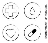 icons set about medicine