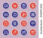 shopping web icons | Shutterstock .eps vector #344091356