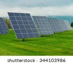 solar panels placed on a... | Shutterstock . vector #344103986