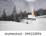 among the legendary mountains... | Shutterstock . vector #344122856
