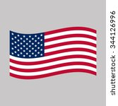 american flag   Shutterstock .eps vector #344126996