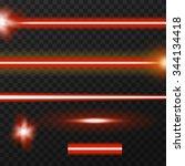 red laser beams  three... | Shutterstock .eps vector #344134418