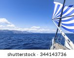 Постер, плакат: Sailing ship yachts with