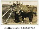 ussr   circa 1980s  an antique...   Shutterstock . vector #344144246