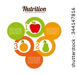 nutritional food design  vector ... | Shutterstock .eps vector #344147816