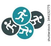 running men vector icon. style... | Shutterstock .eps vector #344152775
