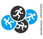 running men glyph icon. style... | Shutterstock . vector #344155202