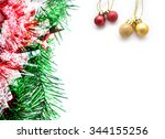 christmas background. | Shutterstock . vector #344155256