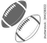american football ball vector... | Shutterstock .eps vector #344158322