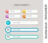 vector element design set   Shutterstock .eps vector #344164835