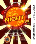 vector night party invitation... | Shutterstock .eps vector #344172065