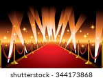 red carpet with spotlight. | Shutterstock .eps vector #344173868