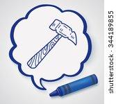 hammer doodle | Shutterstock . vector #344189855