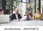 group of business people... | Shutterstock . vector #344193872