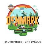 denmark in scandinavia is a...   Shutterstock .eps vector #344196008